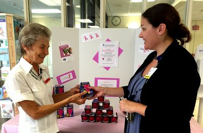 "Hospital auxiliary bulbs will ""Light the Night Pink"""