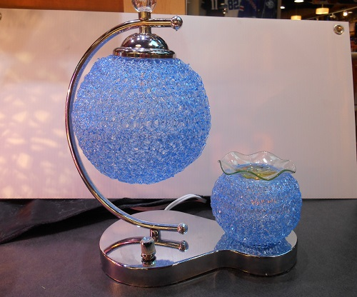 A unique designed blue tart burner, double globe  71bl