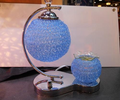 A unique designed blue tart burner, double globe  71bl