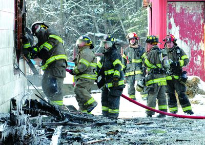 Cold, wind, make Howes Cave fire difficult