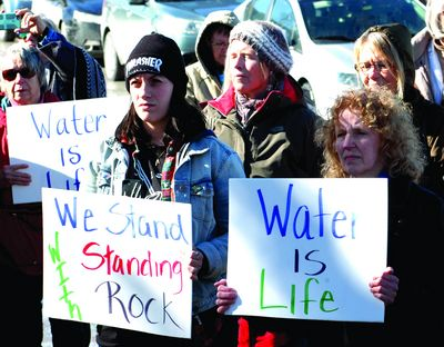 Tepee hosts rally for DAPL water rights