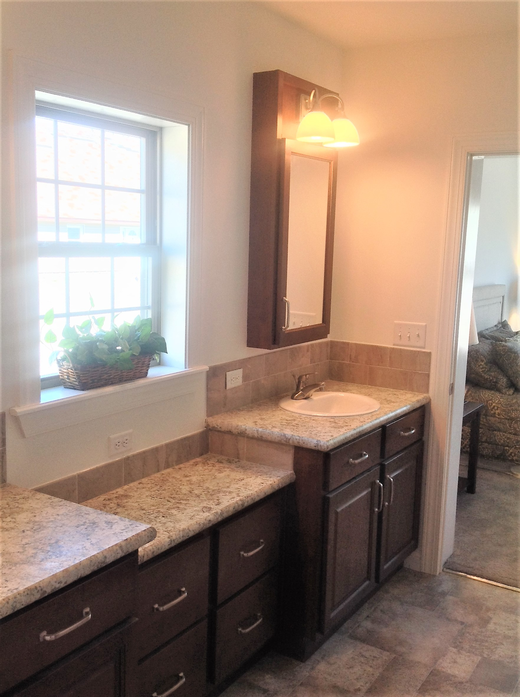 Lots of space in the master bath