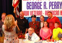 Birthday celebration for 100-year-old Sharon Springs vet