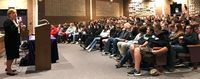 Holocaust survivor shares message with students