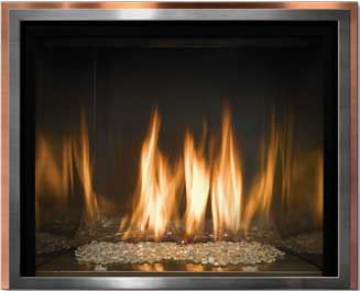 Mendota FullView Décor Gas Fireplaces