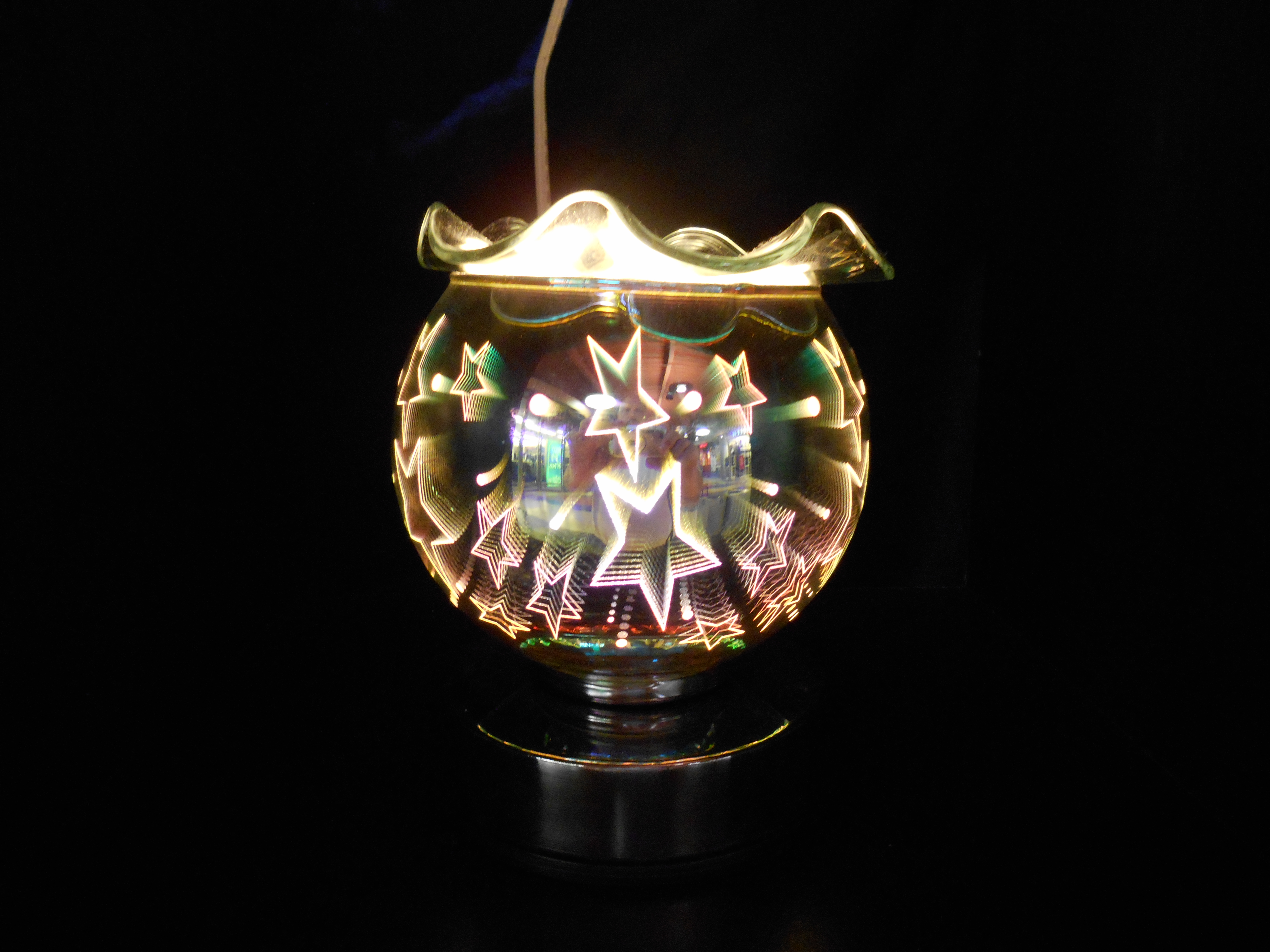 New 3D, SUPER COOL touch lamp, oil warmer & tart burner 822