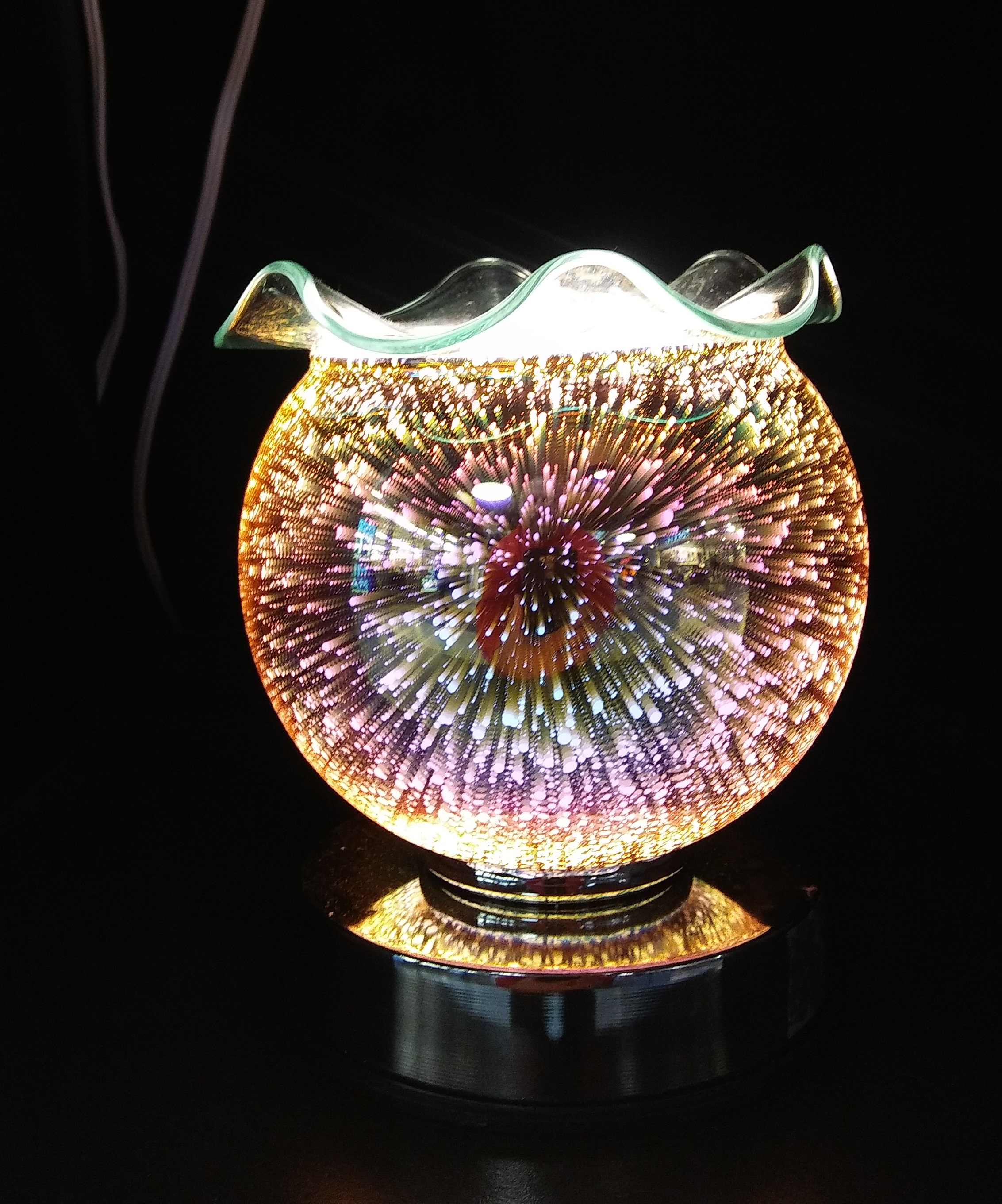 New 3D, SUPER COOL touch lamp, oil warmer & tart burner 826