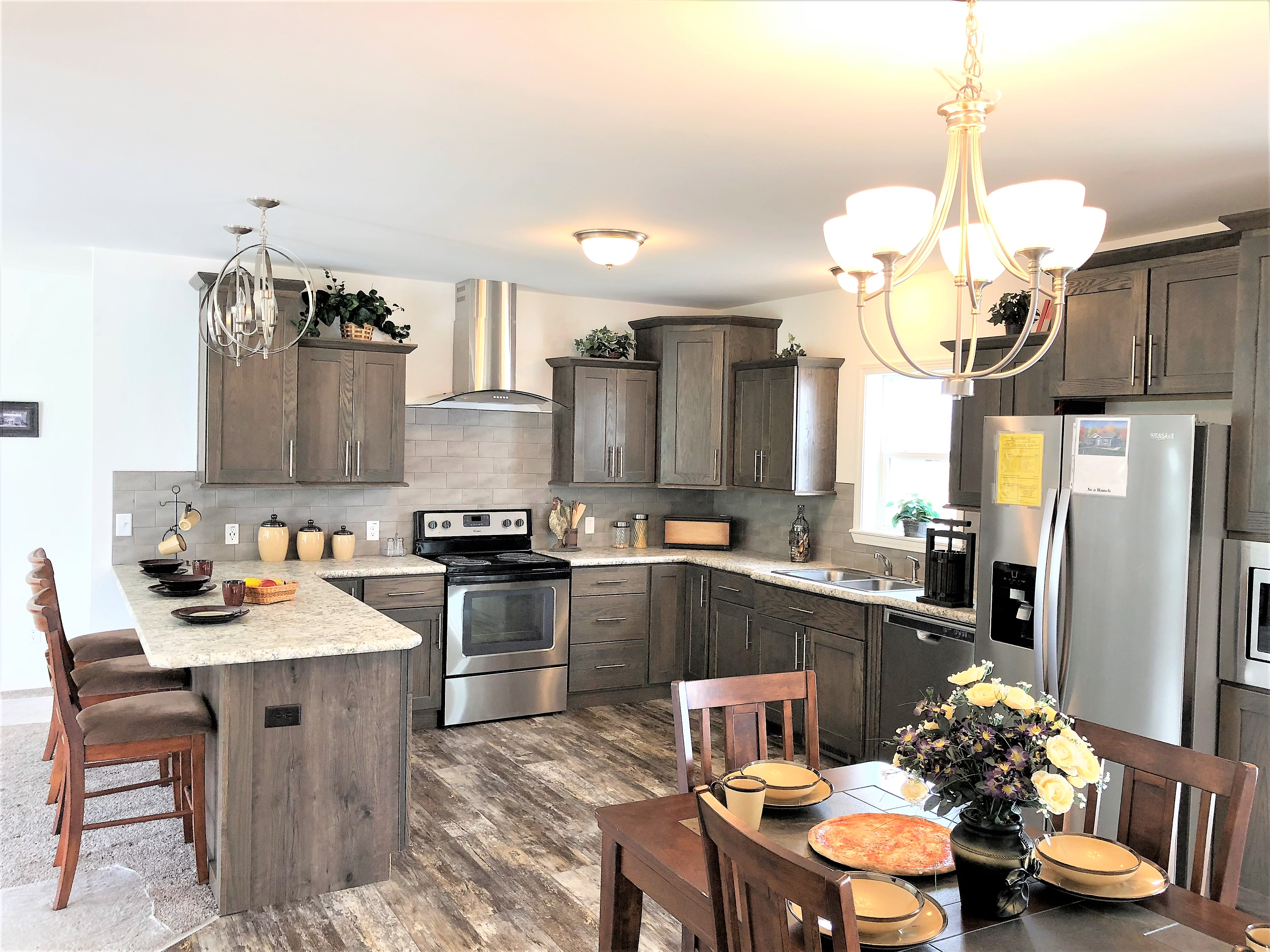 Shown With The Pennisula Kitchen Option Also Available with a  Large Island