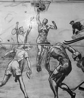 Cobleskill sports mural has interesting history