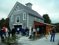College homecoming cuts ribbon on future