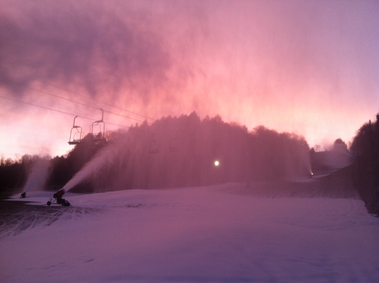 Snow Making operations continue