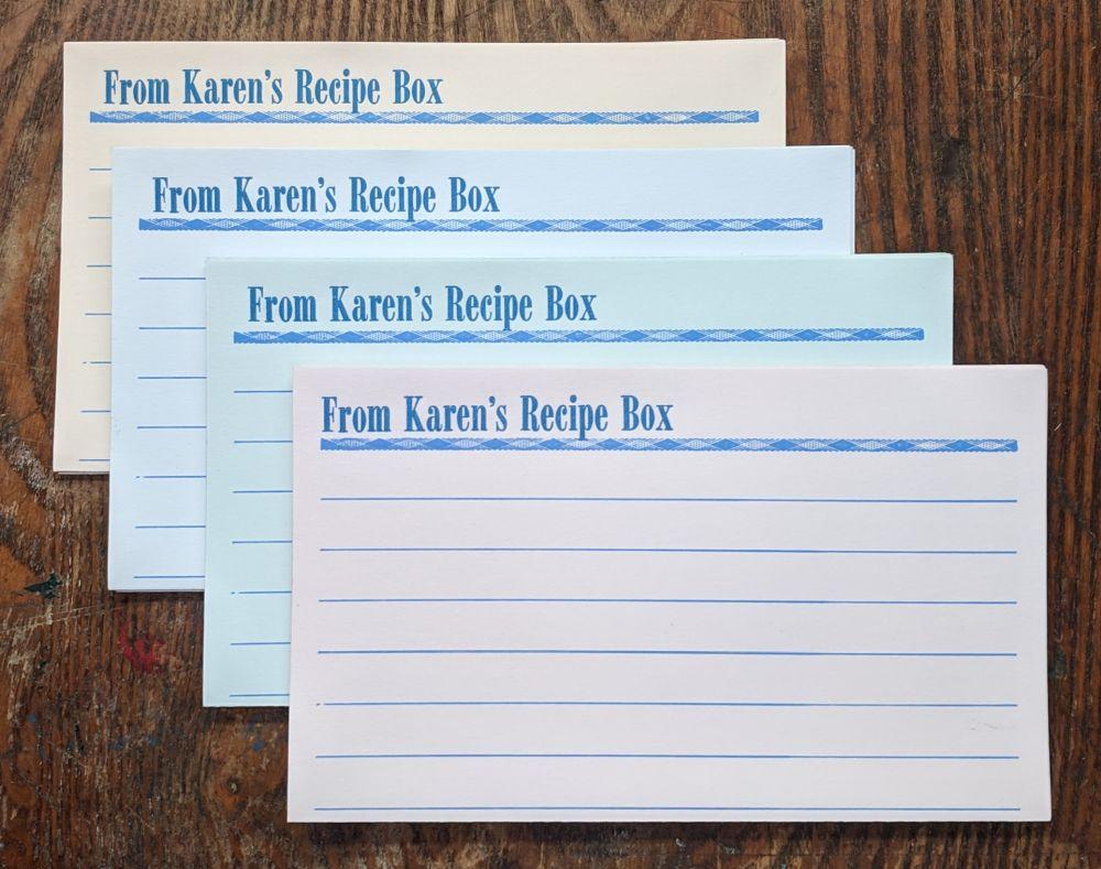 Pastel Recipe Kards