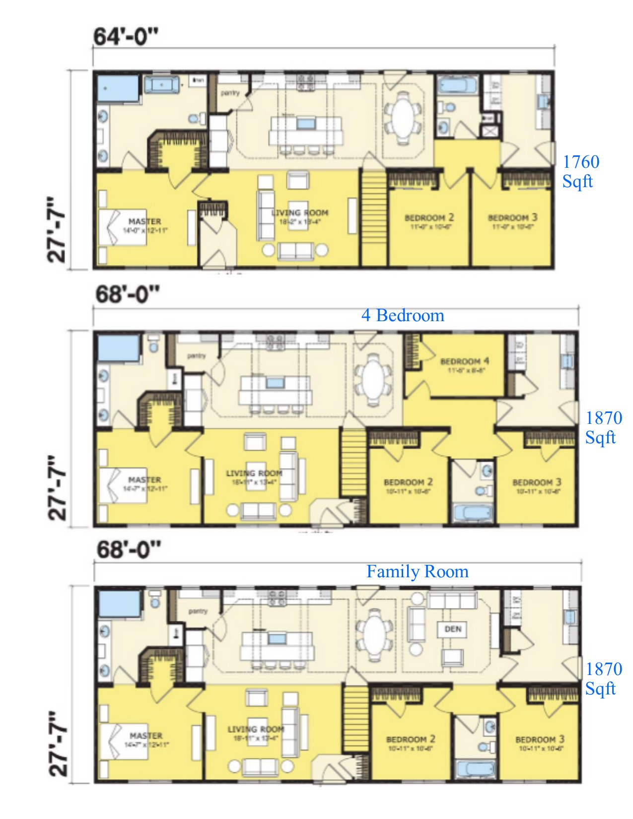 More Family Of Homes Layouts