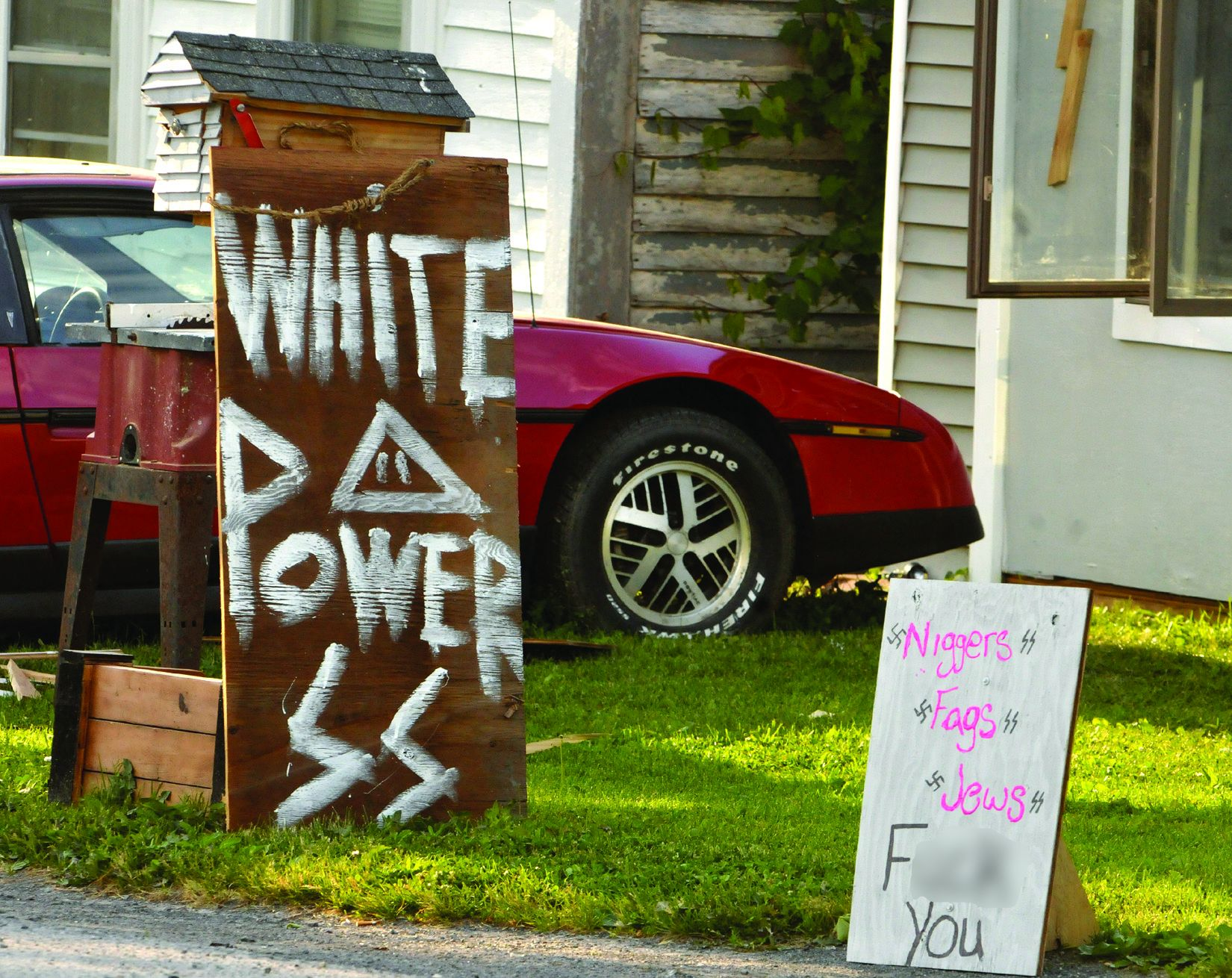 Hate signs anger Argusville neighbors