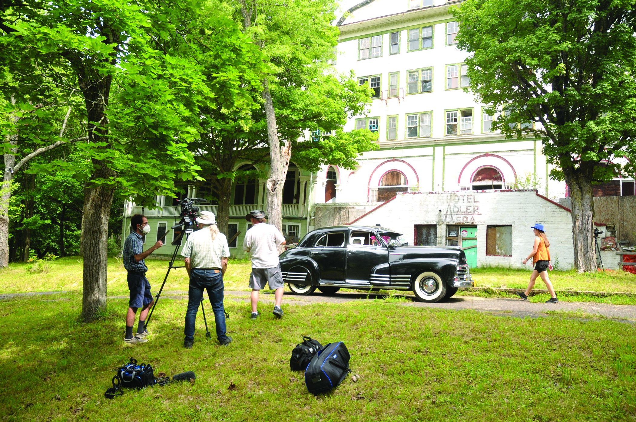 Film crew visits Route 20