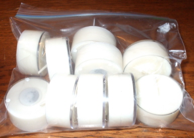 Unscented  Soy wax tea lights, bag of 10, all natural soy poured into high quality clear plastic cups