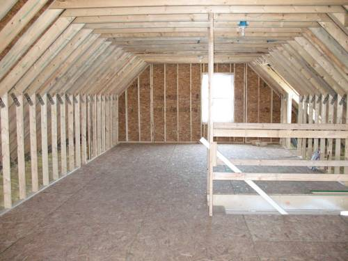 Unfinished Attic Area