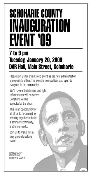 Obama celebration at DAR Hall