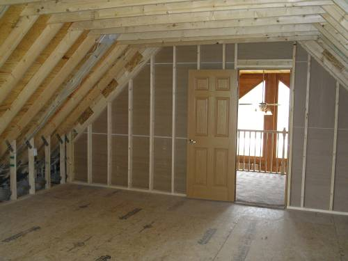 Unfinished Loft Area