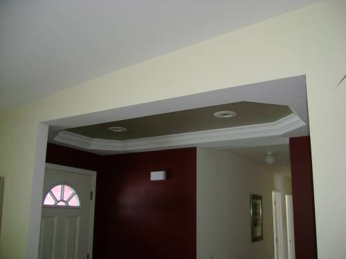 Tray Ceiling at Foyer