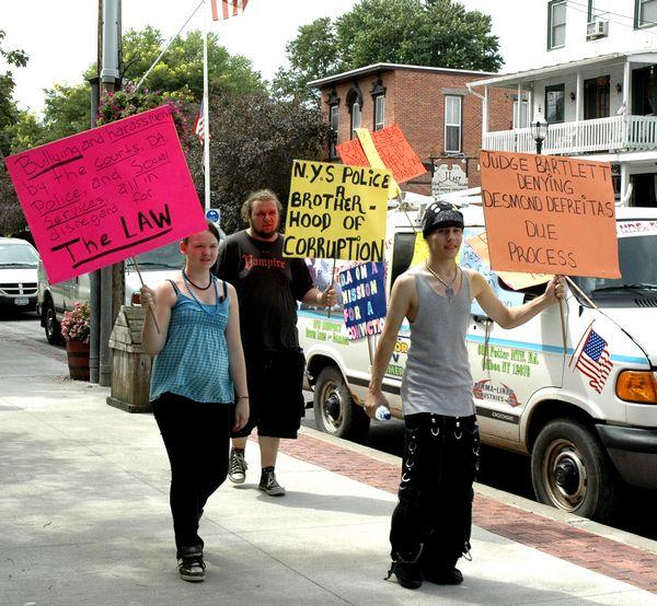 Protestors denounce DeFreitas trial