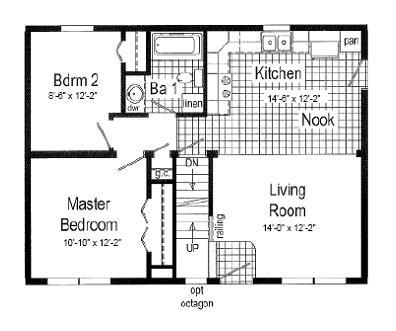 Floor Plan 1st floor as Ranch or Cape