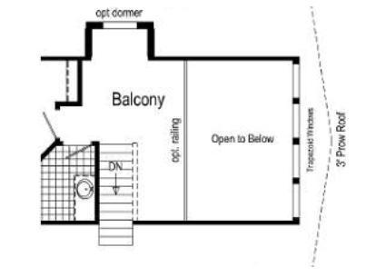 Optional Chalet Balcony Open to Below