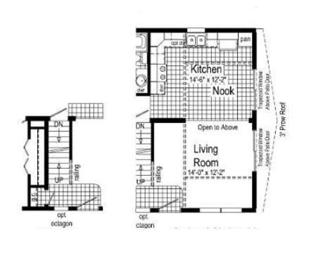 Optional Open Attic Stairs and Optional Patio Doors with Balcony Above