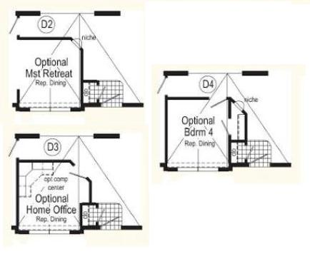 Optional Dining Room Layouts