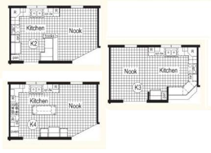 Optional Kitchen Layouts