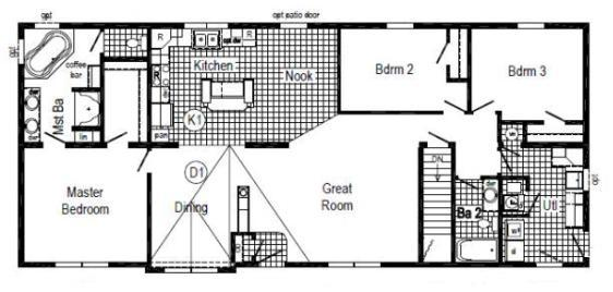 The Danbury II (HR 131A Floor Plan)