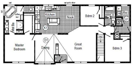 The Danbury III (HR 134A Floor Plan)