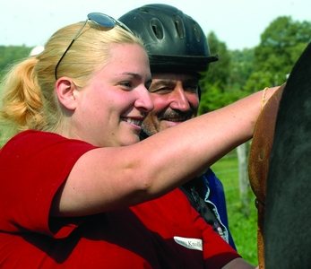 Vets find peace and quiet on horseback