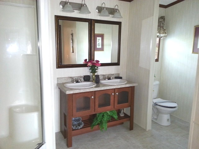 Very spacious master bath