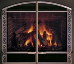 Mendota Gas Fireplace DXV45 Deep Timber 4 (DT4)