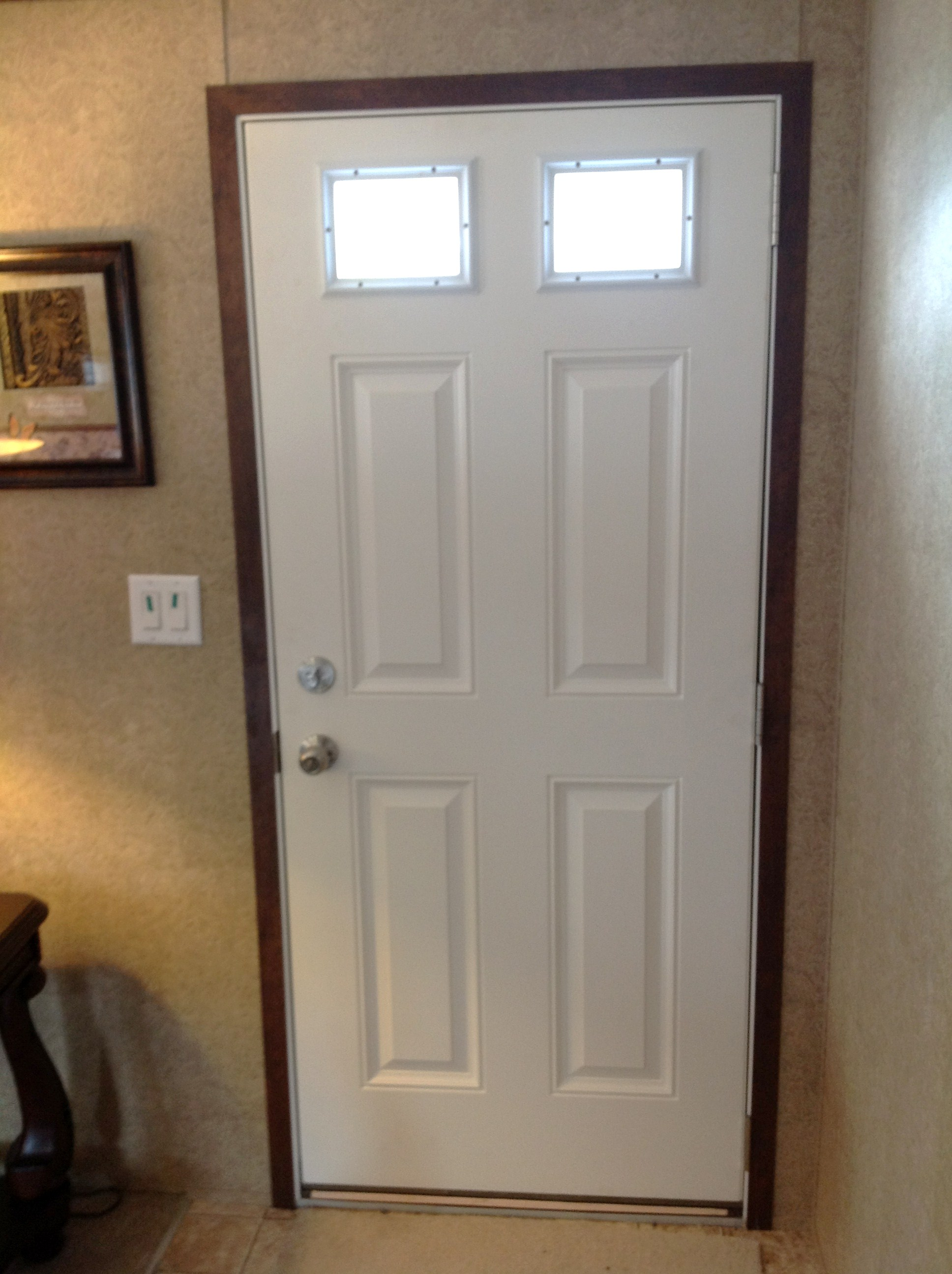 Upgraded Fiberglass front door