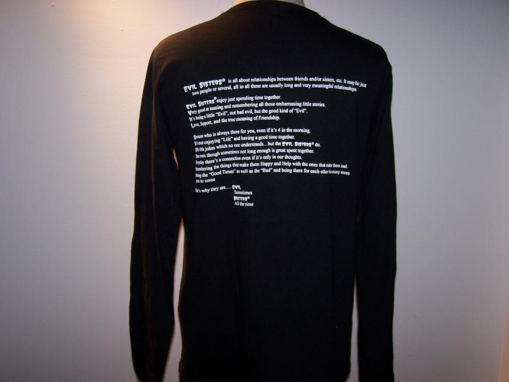 Decree Long Sleeve Black Tee 2X