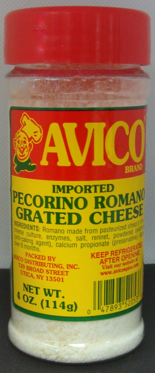 Grated Romano Cheese 4 oz