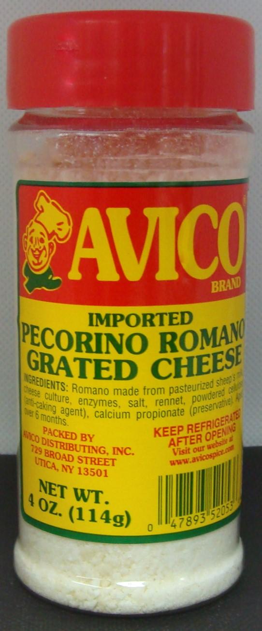 Grated Romano Cheese 4 oz