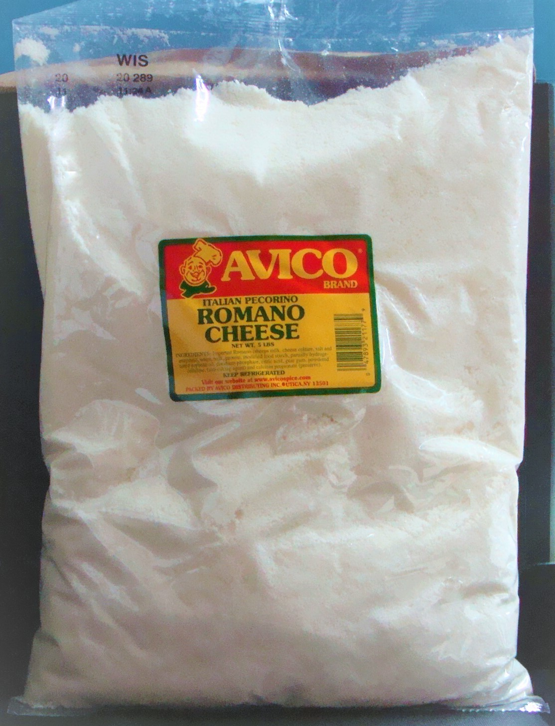 Grated Romano Italian Style Cheese 5 lbs