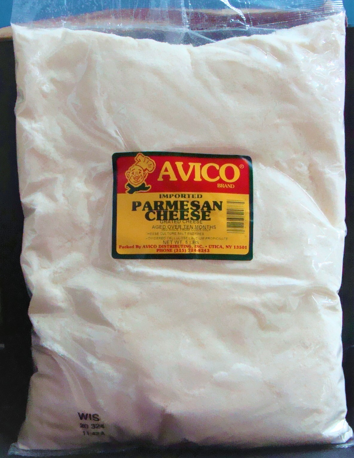 Grated Parmesan Cheese 5 lbs