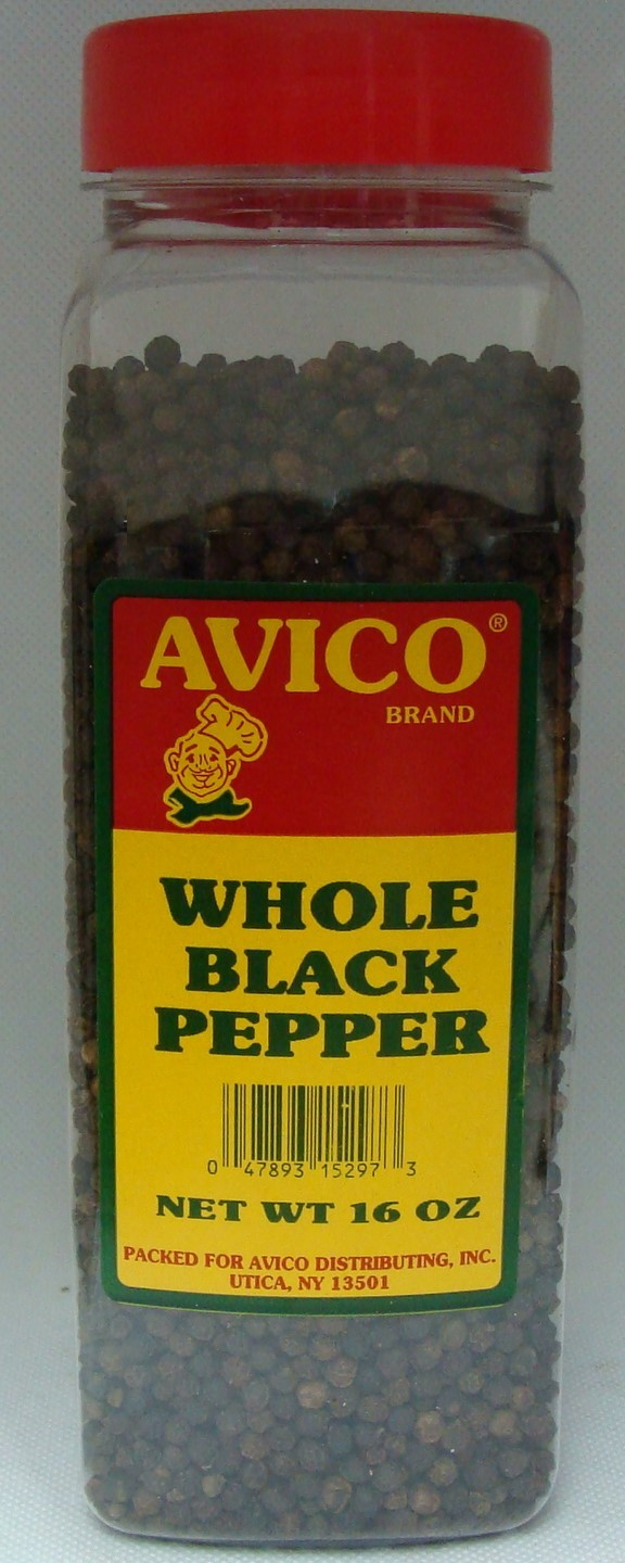 Black Pepper Whole 16 oz.