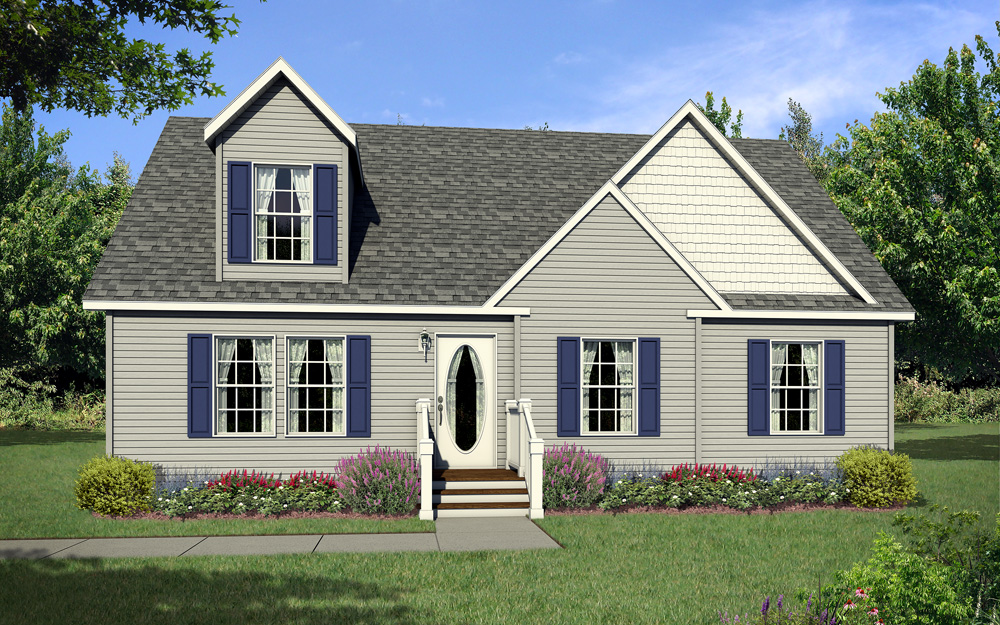 Cape Cod Option w/Large Dormer
