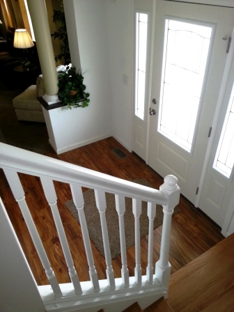 Staircase leading to second floor.