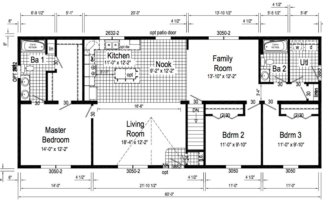 Standard floor plan.