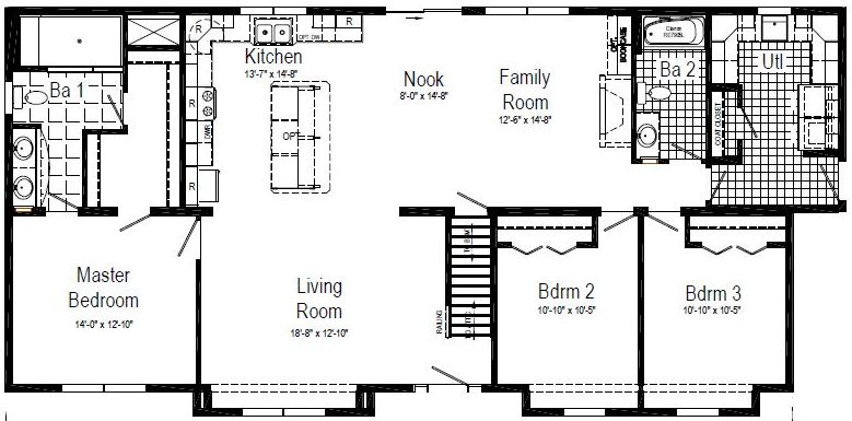 The floor plan as displayed.