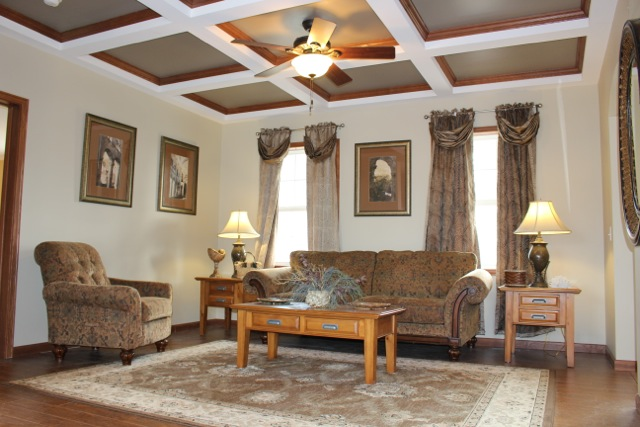 View of the family room.