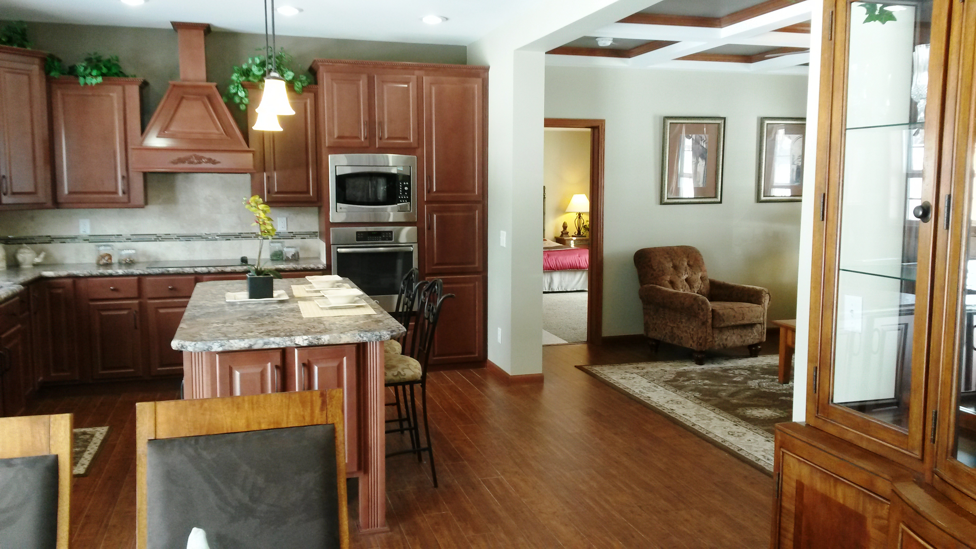 Looking to the kitchen from dining/nook area.