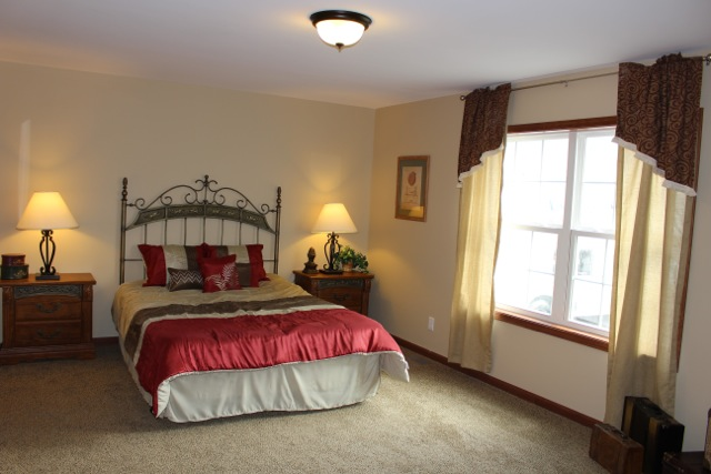 Very large master bedroom.