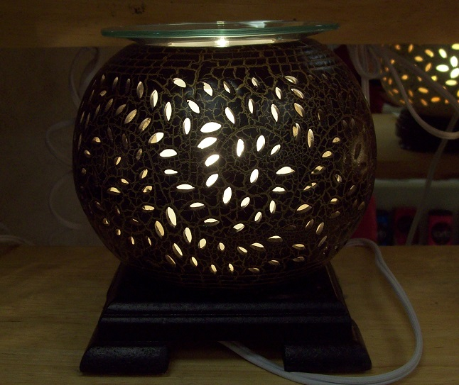oil warmer,FREE SHIPPING Ceramic round brown tart burner, #218
